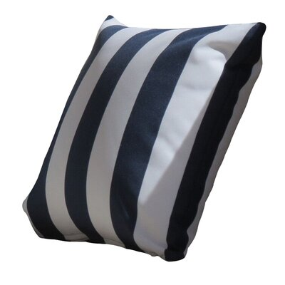 Montego Outdoor Throw Pillow Color: Navy
