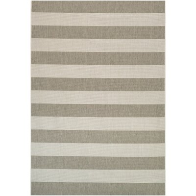 Fielding Tan/Ivory Indoor/Outdoor Area Rug Rug Size: 53 x 76