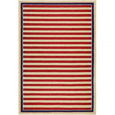 Marshfield Hand-Woven Red/Yellow Indoor/Outdoor Area Rug