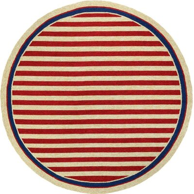 Montery Hand-Woven Red/Yellow Indoor/Outdoor Area Rug Rug Size: Round 710