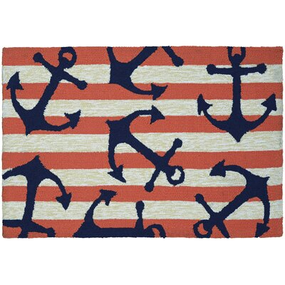 Marshfield Achor Doormat Color: Away/Coral