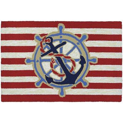 Marshfield Doormat Color: Ahoy/Red