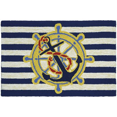 Marshfield Doormat Color: Ahoy/Blue