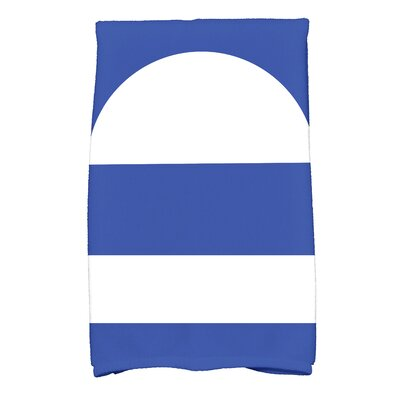 Bartow Geometric Blue/White Hand Towel
