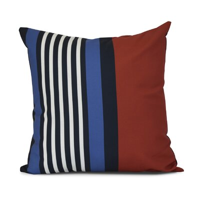 Bartow Beach Shack Throw Pillow Size: 18 H x 18 W x 3 D, Color: Red/Navy Blue