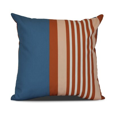 Bartow Beach Shack Throw Pillow Size: 20 H x 20 W x 3 D, Color: Teal/Orange