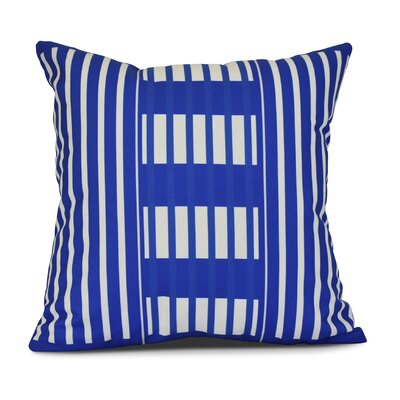 Bartow Beach Blanket Throw Pillow Size: 18 H x 18 W x 3 D, Color: Blue