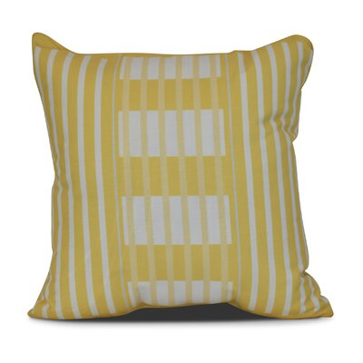 Bartow Beach Blanket Throw Pillow Size: 20 H x 20 W x 3 D, Color: Yellow
