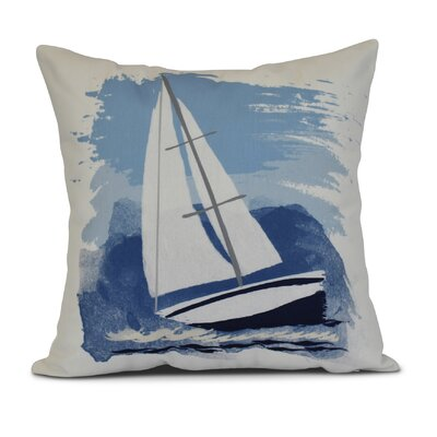 Golden Gate Sailing the Seas Throw Pillow Size: 18 H x 18 W x 3 D