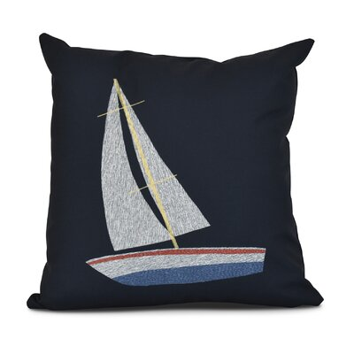 Bartow Set Sail Throw Pillow Size: 20 H x 20 W x 3 D