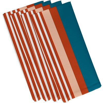 Bartow Beach Shack Napkin Color: Teal/Orange