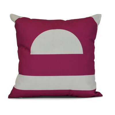 Golden Gate Geometri Outdoor Throw Pillow Size: 20 H x 20 W x 3 D, Color: Pink
