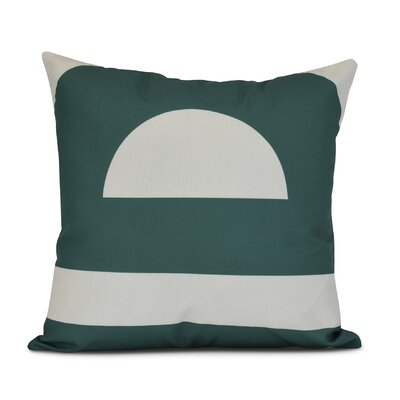 Golden Gate Coastal Throw Pillow Size: 26 H x 26 W x 3 D, Color: Green