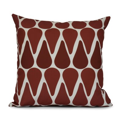 Golden Gate Throw Pillow Size: 16 H x 16 W x 3 D, Color: Red