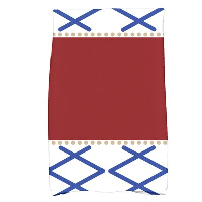 Bartow Knot Fancy Bath Towel Color: Red/Blue