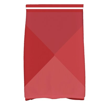 Bartow Nautical Angles Bath Towel Color: Red