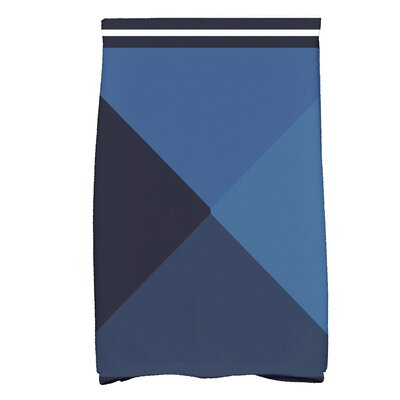 Bartow Nautical Angles Bath Towel Color: Navy Blue
