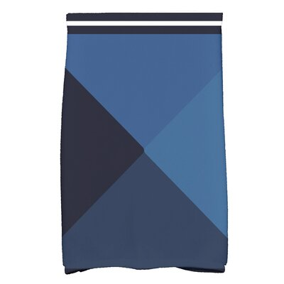 Bartow Nautical Angles Hand Towel Color: Navy Blue