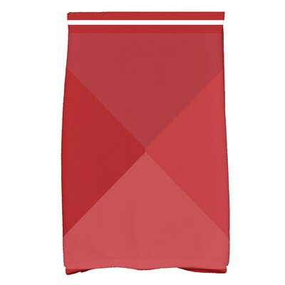Bartow Nautical Angles Hand Towel Color: Red