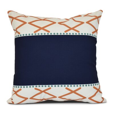 Bartow Knot Fancy Throw Pillow Color: Orange, Size: 18 H x 18 W x 3 D