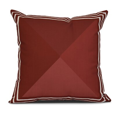 Bartow Nautical Angles Outdoor Throw Pillow Size: 18 H x 18 W x 3 D, Color: Red