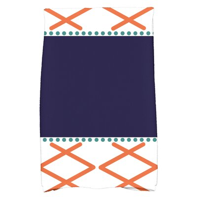 Bartow Knot Fancy Hand Towel Color: Orange/Navy Blue