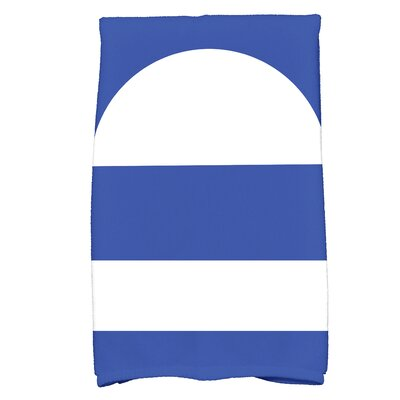 Golden Gate Geometric Hand Towel Color: Blue
