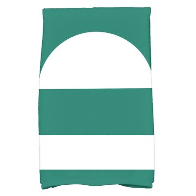 Golden Gate Geometric Bath Towel Color: Green