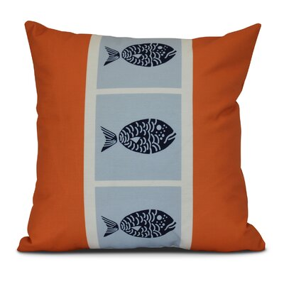 Bartow Fish Chips Throw Pillow Color: Orange, Size: 16