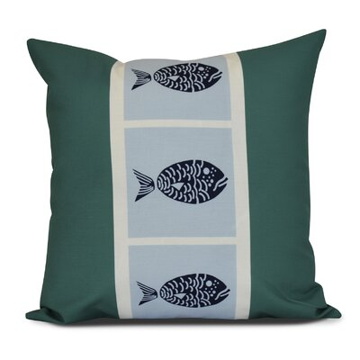 Bartow Fish Chips Throw Pillow Size: 26 H x 26 W x 3 D, Color: Green