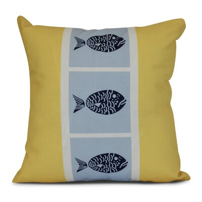 Bartow Fish Chips Throw Pillow Size: 26 H x 26 W x 3 D, Color: Yellow