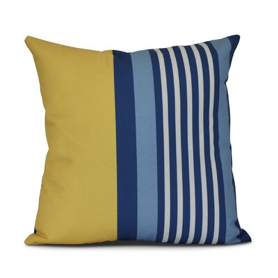 Bartow Beach Shack Outdoor Throw Pillow Color: Yellow/Blue, Size: 18 H x 18 W x 3 D