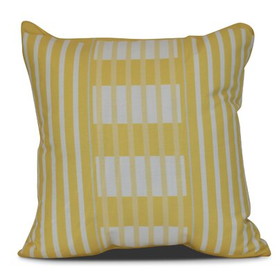 Bartow Beach Blanket Outdoor Throw Pillow Color: Yellow, Size: 16 H x 16 W x 3 D