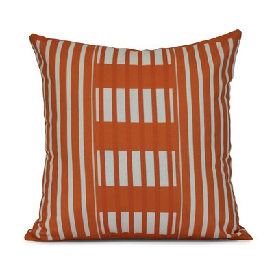 Bartow Beach Blanket Outdoor Throw Pillow Size: 18 H x 18 W x 3 D, Color: Orange