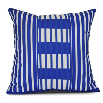 Bartow Beach Blanket Outdoor Throw Pillow Size: 16 H x 16 W x 3 D, Color: Blue