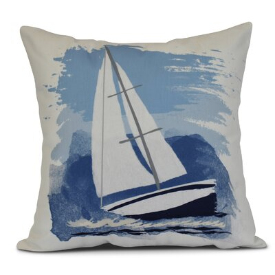 Golden Gate Sailing the Seas Outdoor Throw Pillow Size: 20 H x 20 W x 3 D