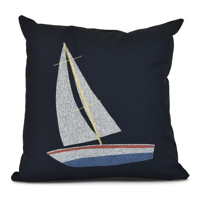 Golden Gate Set Sail Outdoor Throw Pillow Size: 18 H x 18 W x 3 D