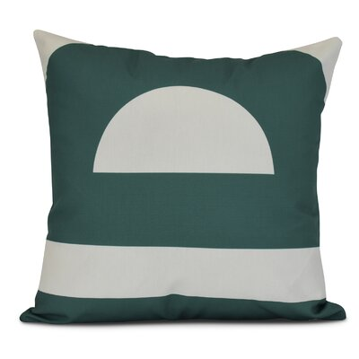 Golden Gate Geometri Outdoor Throw Pillow Size: 18 H x 18 W x 3 D, Color: Green