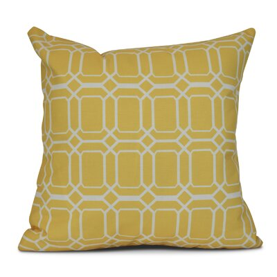 Golden Gate Coastal Outdoor Throw Pillow Size: 18 H x 18 W x 3 D, Color: Yellow