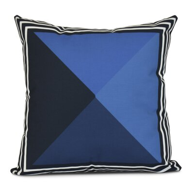 Bartow Nautical Angles Outdoor Throw Pillow Color: Navy Blue, Size: 20 H x 20 W x 3 D