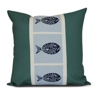 Bartow Fish Chips Outdoor Throw Pillow Color: Green, Size: 20 H x 20 W x 3 D