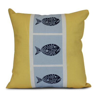 Bartow Fish Chips Outdoor Throw Pillow Size: 16