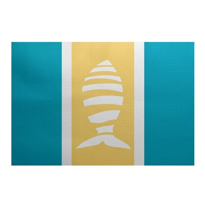 Golden Gate Blue/Yellow/Beige Indoor/Outdoor Area Rug Rug Size: Rectangle 3 x 5