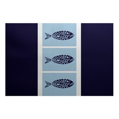 Bartow Blue Indoor/Outdoor Area Rug Rug Size: 5 x 7