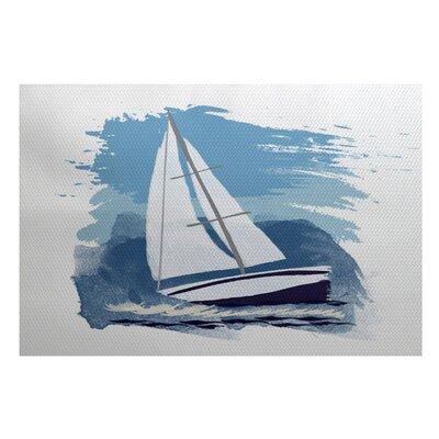 Bartow Blue/White Indoor/Outdoor Area Rug