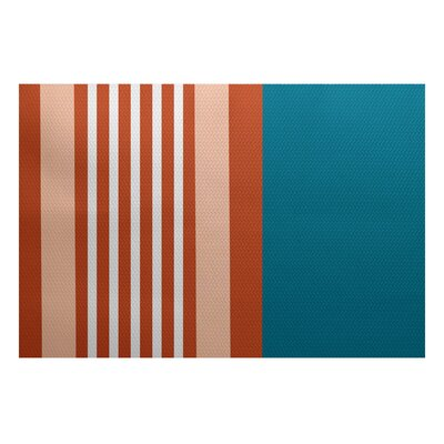 Bartow Blue/Orange Indoor/Outdoor Area Rug