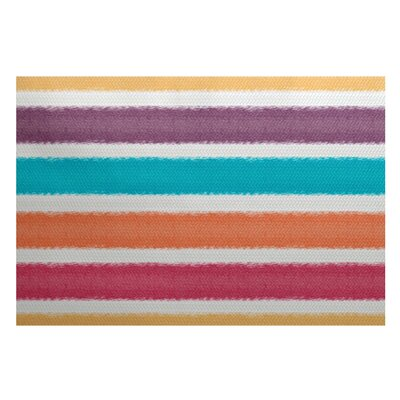 Bartow Purple/Orange/Blue Indoor/Outdoor Area Rug Rug Size: 4 x 6