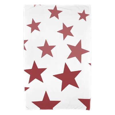 Petersfield Just Stars Bath Towel Color: Red