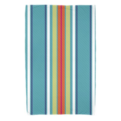 Petersfield Multi-Stripe Bath Towel Color: Turquoise