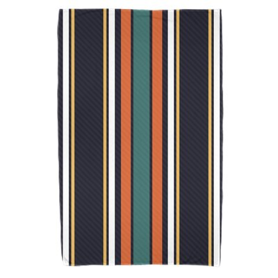 Petersfield Multi-Stripe Bath Towel Color: Orange